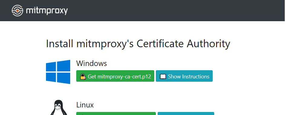 mitmproxy证书安装